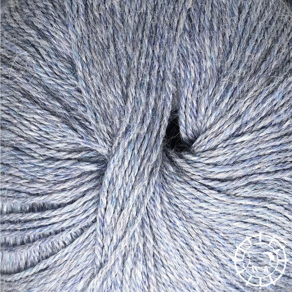 «Woolpack Yarn Collection» Baby Alpaka Fingering, meliert – Gletscher
