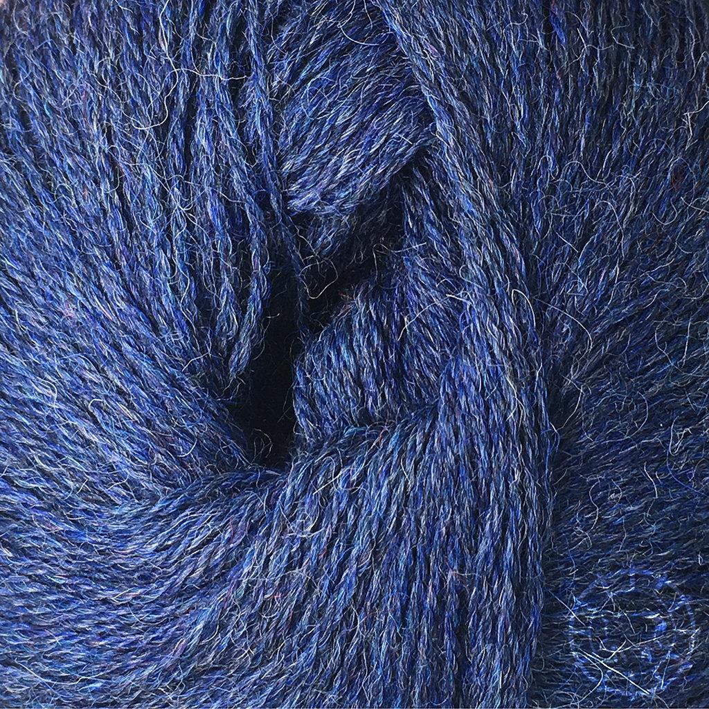 «Woolpack Yarn Collection» Baby Alpaka Fingering, meliert – Dunkelblau