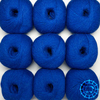 «Woolpack Yarn Collection» Baby Alpaca Fingering, chinée – Bleu royal