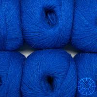 «Woolpack Yarn Collection» Baby Alpaka Fingering, meliert – Royalblau
