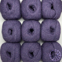 «Woolpack Yarn Collection» Baby Alpaca Fingering, chinée – Prune