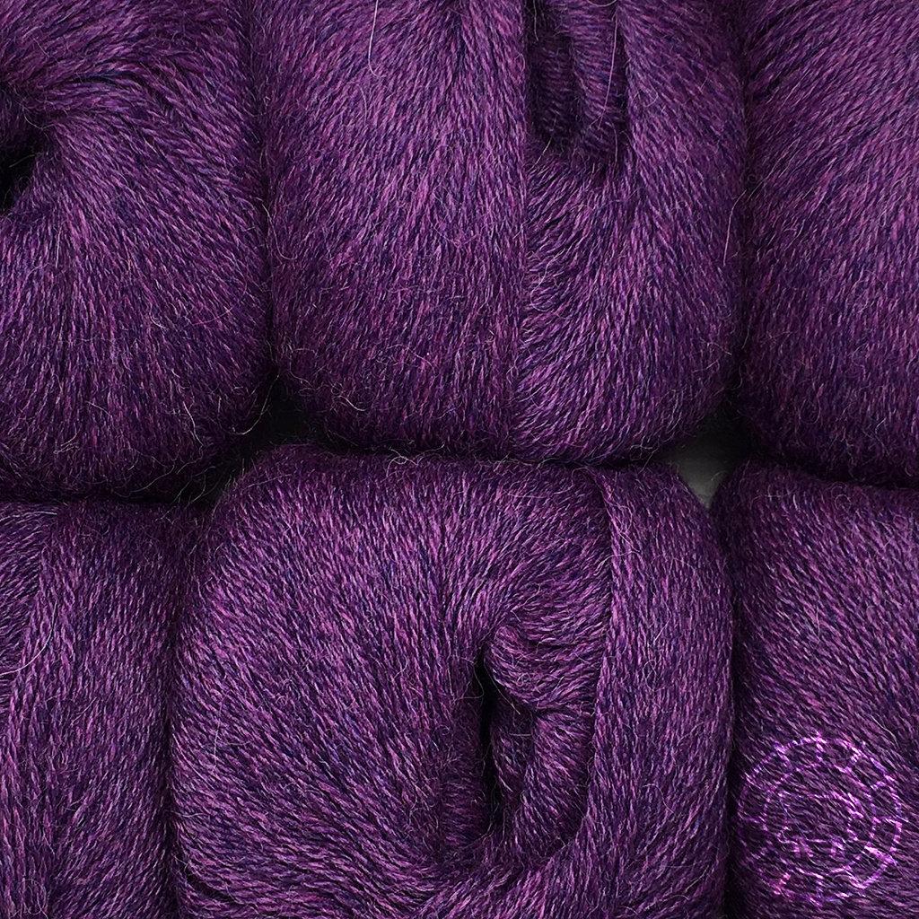 «Woolpack Yarn Collection» Baby Alpaka Fingering, meliert – Lila