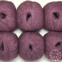 «Woolpack Yarn Collection» Baby Alpaka Fingering, meliert – Beere