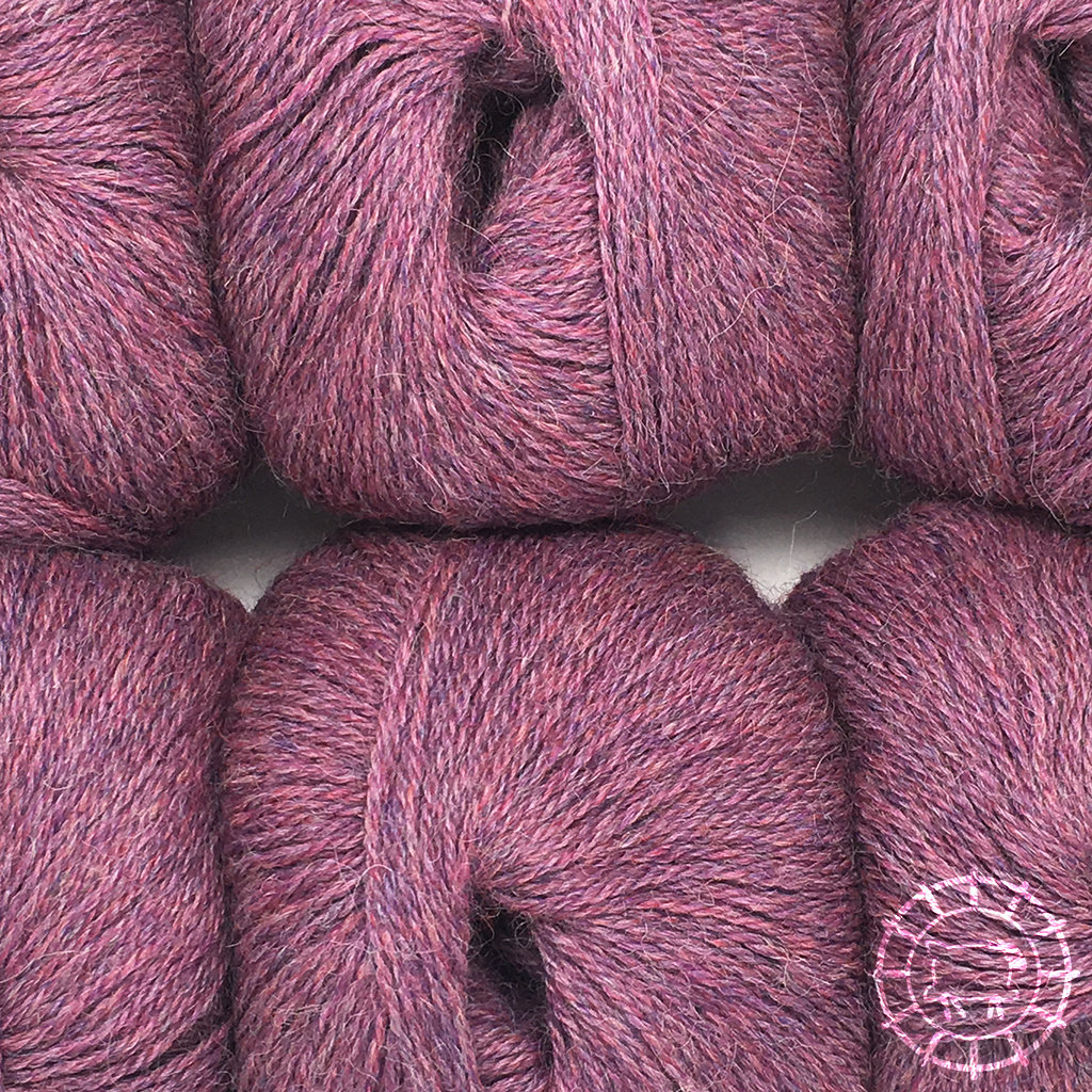 «Woolpack Yarn Collection» Baby Alpaca Fingering, chinée – Baies