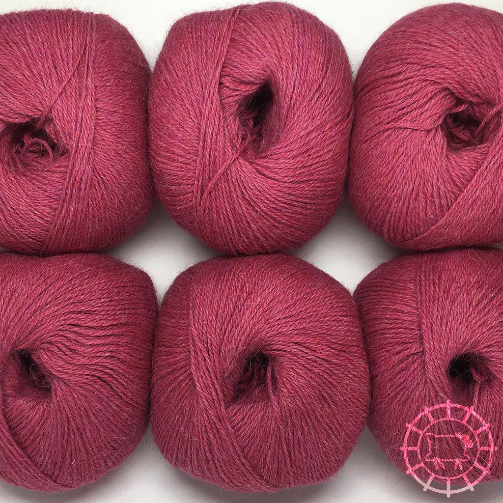 «Woolpack Yarn Collection» Baby Alpaka Fingering, meliert – Himbeersahne