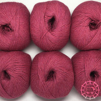 «Woolpack Yarn Collection» Baby Alpaca Fingering, chinée – Framboise à la chantilly