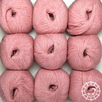 «Woolpack Yarn Collection» Baby Alpaca Fingering, chinée – Rose perle
