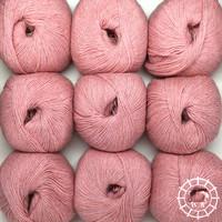 «Woolpack Yarn Collection» Baby Alpaka Fingering, meliert – Perlrosa