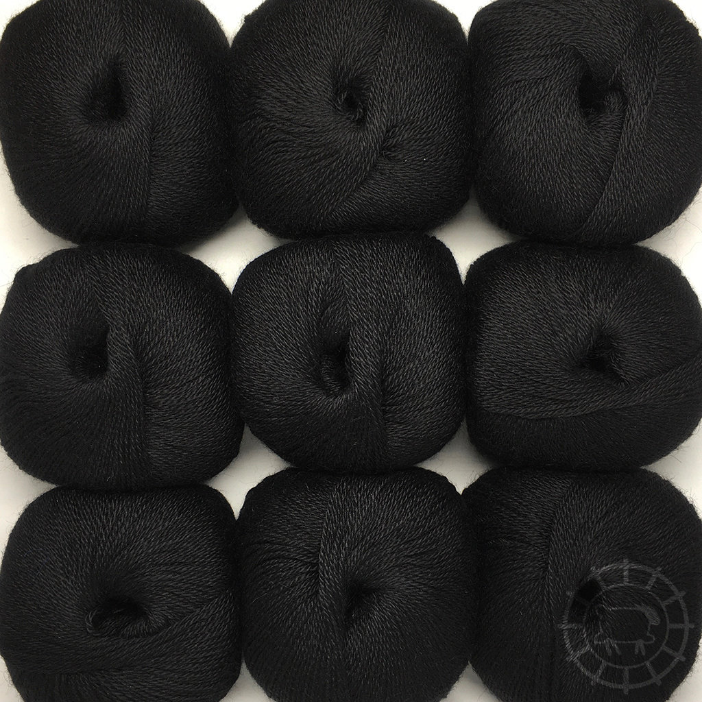 «Woolpack Yarn Collection» Baby Alpaca Fingering – Noir