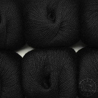 «Woolpack Yarn Collection» Baby Alpaka Fingering - Schwarz