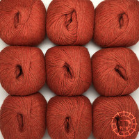 «Woolpack Yarn Collection» Baby Alpaca Fingering, chinée – Rouge brique