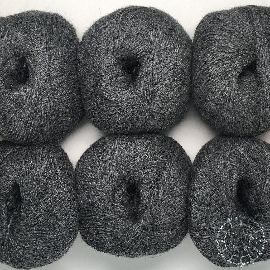 «Woolpack Yarn Collection» Baby Alpaca Fingering, chinée – Gris foncé