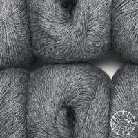 «Woolpack Yarn Collection» Baby Alpaka Fingering, meliert – Dunkelgrau