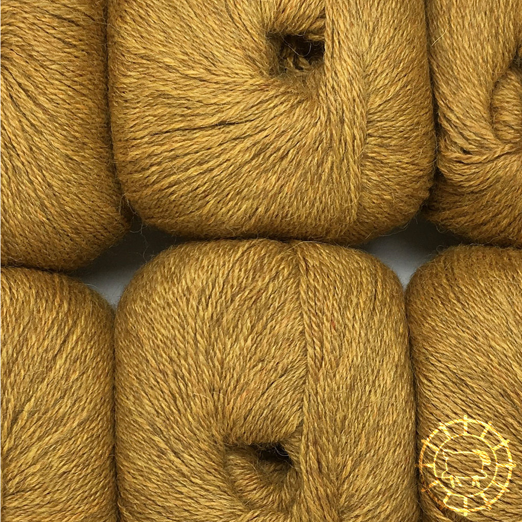«Woolpack Yarn Collection» Baby Alpaka Fingering, meliert – Senfgelb