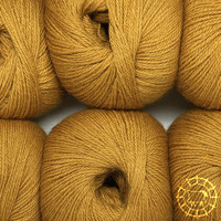 «Woolpack Yarn Collection» Baby Alpaca Fingering – Jaune moutarde