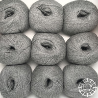 «Woolpack Yarn Collection» Baby Alpaka Fingering, meliert – Hellgrau