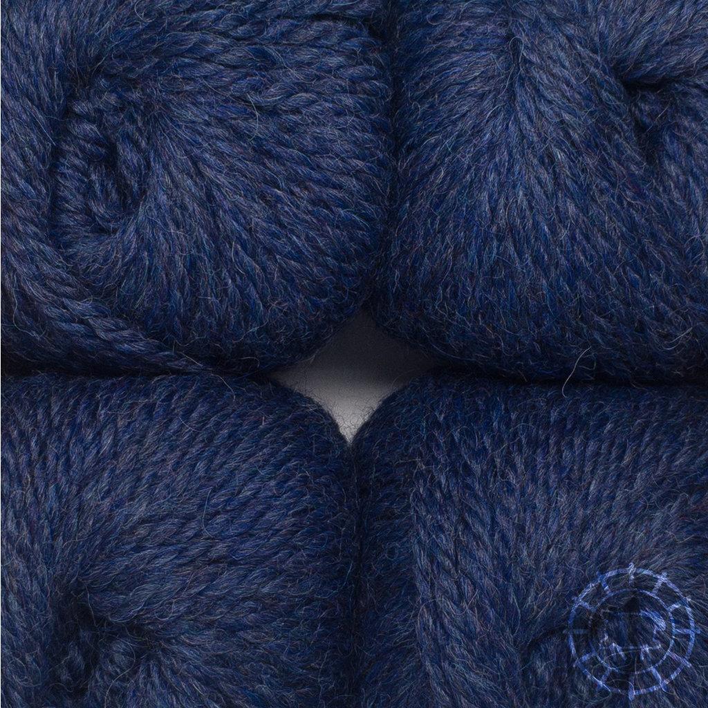 «Woolpack Yarn Collection» Baby Alpaca Bulky, chinée – Bleu foncé