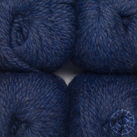 «Woolpack Yarn Collection» Baby Alpaka Bulky, meliert – Dunkelblau