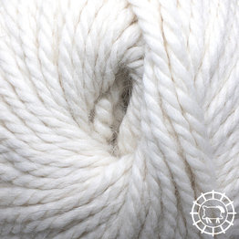 «Woolpack Yarn Collection» Baby Alpaka Bulkynon coloré – Blanc de mouton