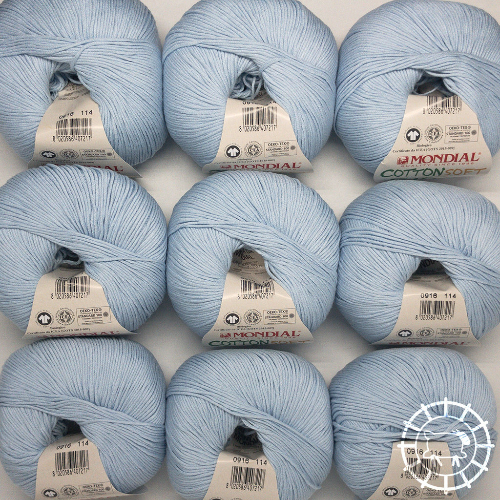 «Lane Mondial» Cotton Soft Bio – Azzurro