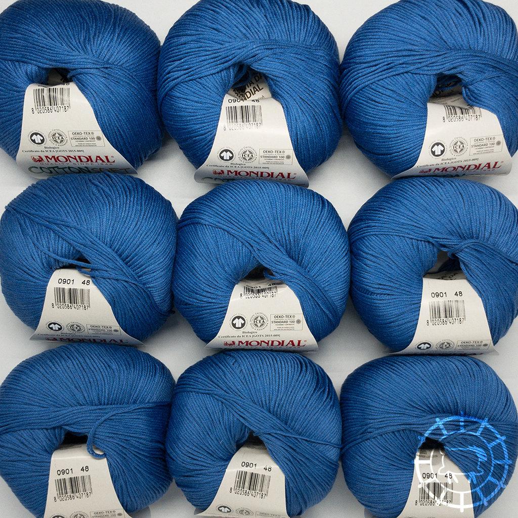 «Lane Mondial» Cotton Soft Bio – Azurblau