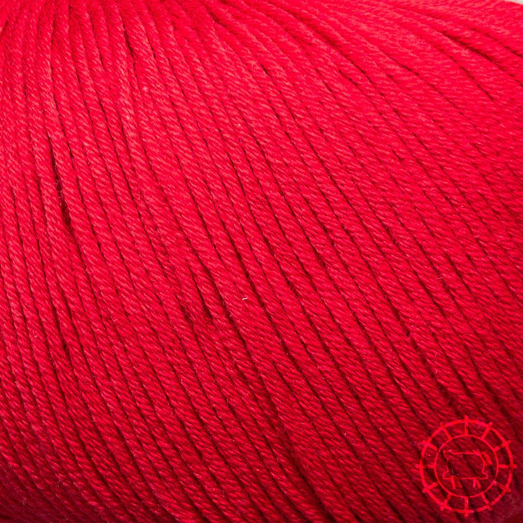 «Lane Mondial» Cotton Soft Bio – Rouge