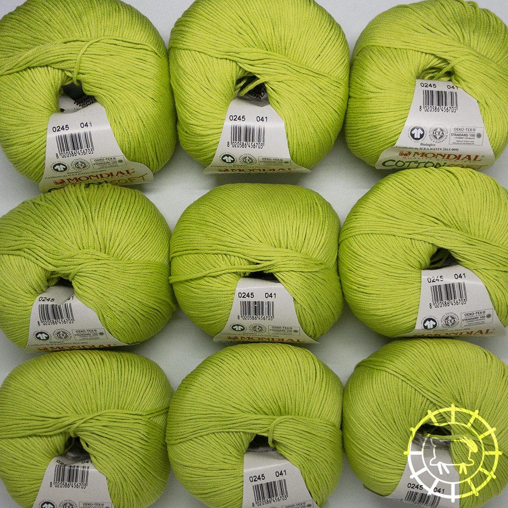 «Lane Mondial» Cotton Soft Bio – Vert clair