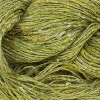 «BC Garn» Tussah Tweed – Grün Fantasie, Hellgrün, gelb gesprenkelt