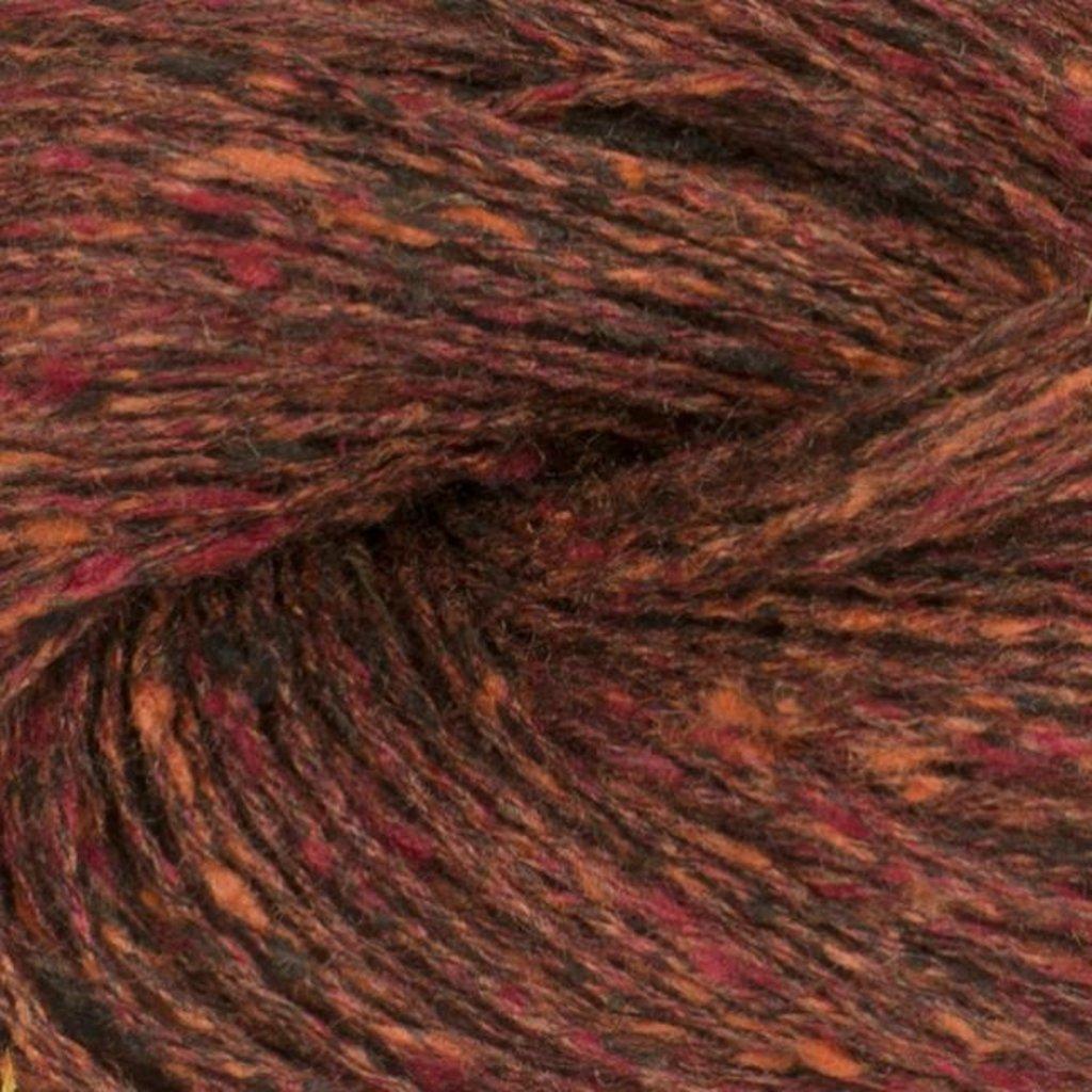 «BC Garn» Tussah Tweed – Braun Fantasie, dunkles Ziegelrot