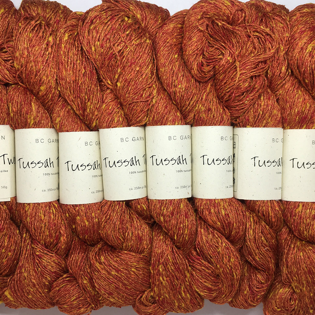 «BC Garn» Tussah Tweed – Mandarine, die süsse Frucht der Vorweihnachtszeit