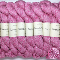 «BC Garn» Tussah Tweed – Pink Lady, Flamingofedern