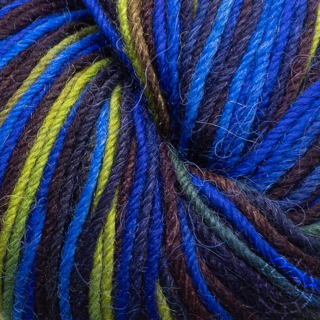 «Apu Kuntur» – Alpaca. Our Passion. Sockenwolle multicolor – Blautöne