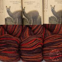 «Apu Kuntur» – Alpaca. Our Passion. Laine à chaussettes multicolore – Cuivre-Orange