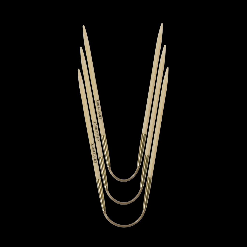 «addi» – Made in Germany «addiCraSyTrio» Bamboo 5 mm, 3er-Set Rundstricknadeln, 24 cm