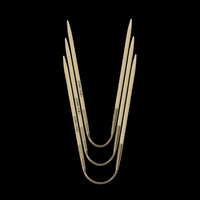 «addi» – Made in Germany «addiCraSyTrio» Bamboo 3 mm, jeu de 3 aiguilles circulaires, 24 cm
