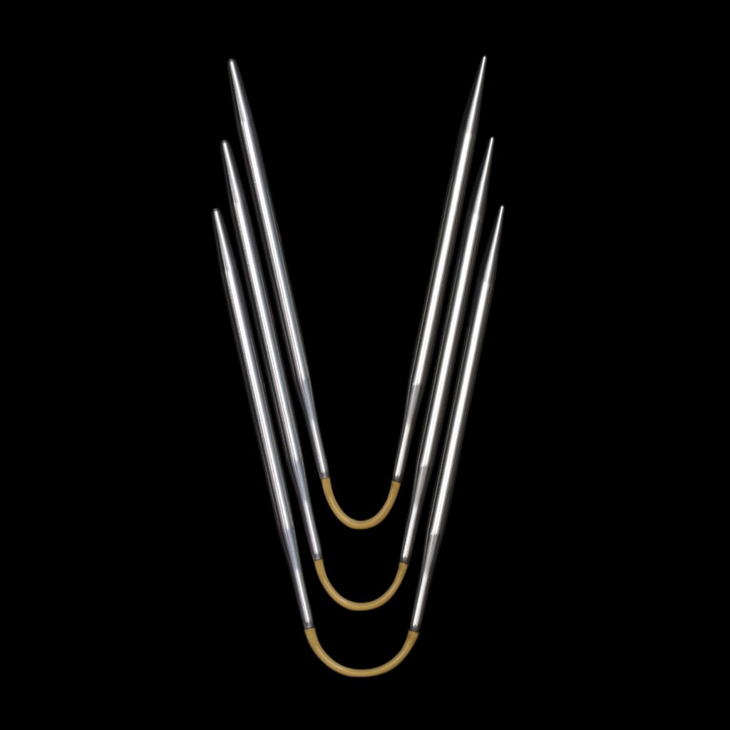 «addi» – Made in Germany «addiCraSyTrio» 5 mm, jeu de 3 aiguilles circulaires, longueur 21 cm