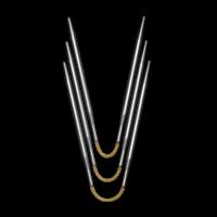 «addi» – Made in Germany «addiCraSyTrio» 4.5 mm, jeu de 3 aiguilles circulaires, longueur 21 cm