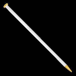 «addi» – Made in Germany «addi» Aiguilles droites 20 mm/40 cm, blanc/transparent avec glitter