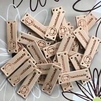 Handmade-Label 4 pièces avec le mouton de Woolpack