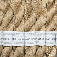 «Ecobutterfly Organics» Organic Linen 7/4 –Pebble
