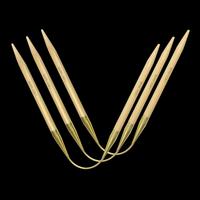 «addi» – Made in Germany «addiCraSyTrio» Bamboo Long 4.5 mm, 3er-Set Rundstricknadeln, 30 cm