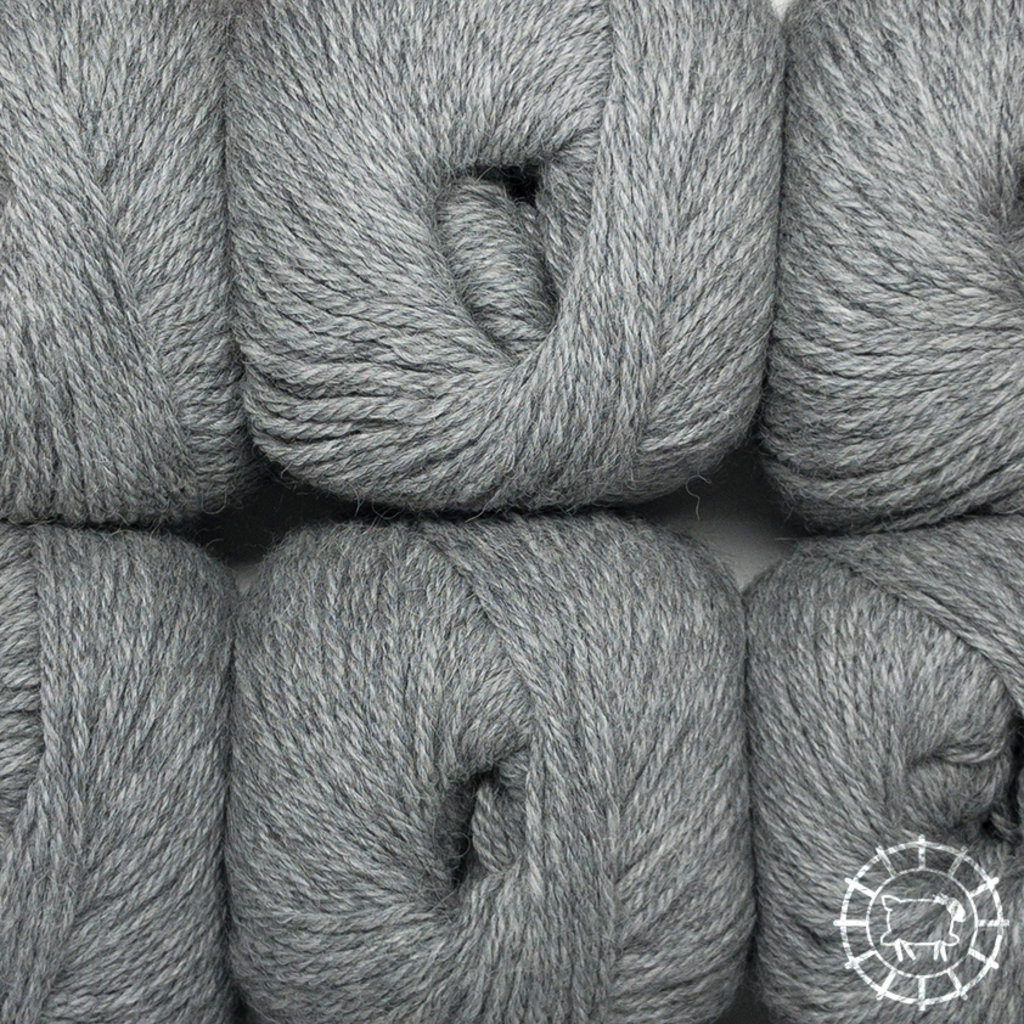«Woolpack Yarn Collection» Baby Alpaca DK, chinée – Gris clair