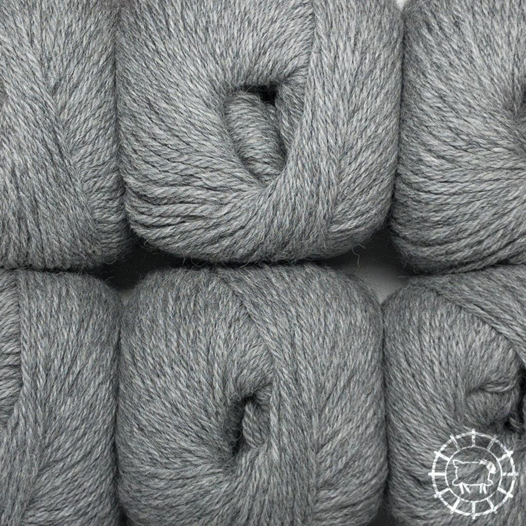 «Woolpack Yarn Collection» Baby Alpaka DK, meliert – Hellgrau