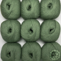 «Woolpack Yarn Collection» Baby Alpaka DK – Khakigrün