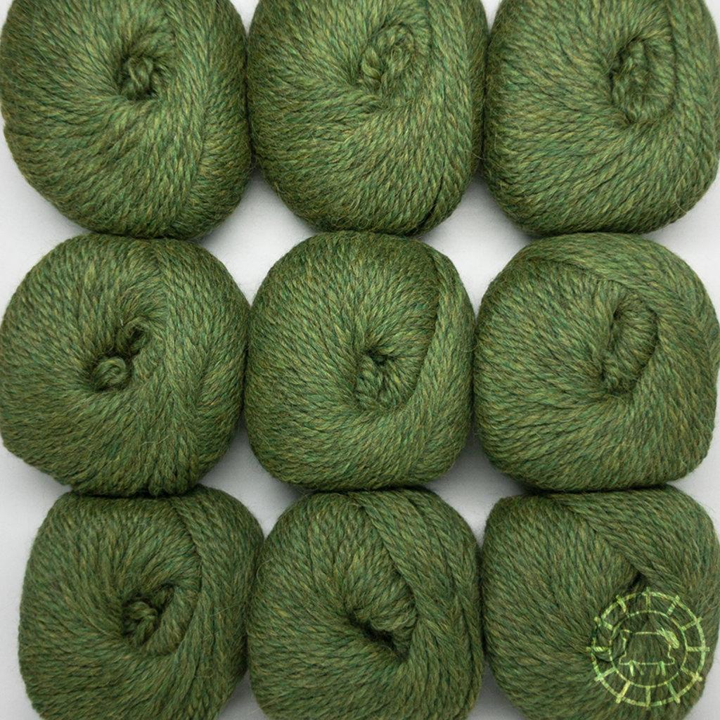 «Woolpack Yarn Collection» Baby Alpaka Bulky – Grün meliert