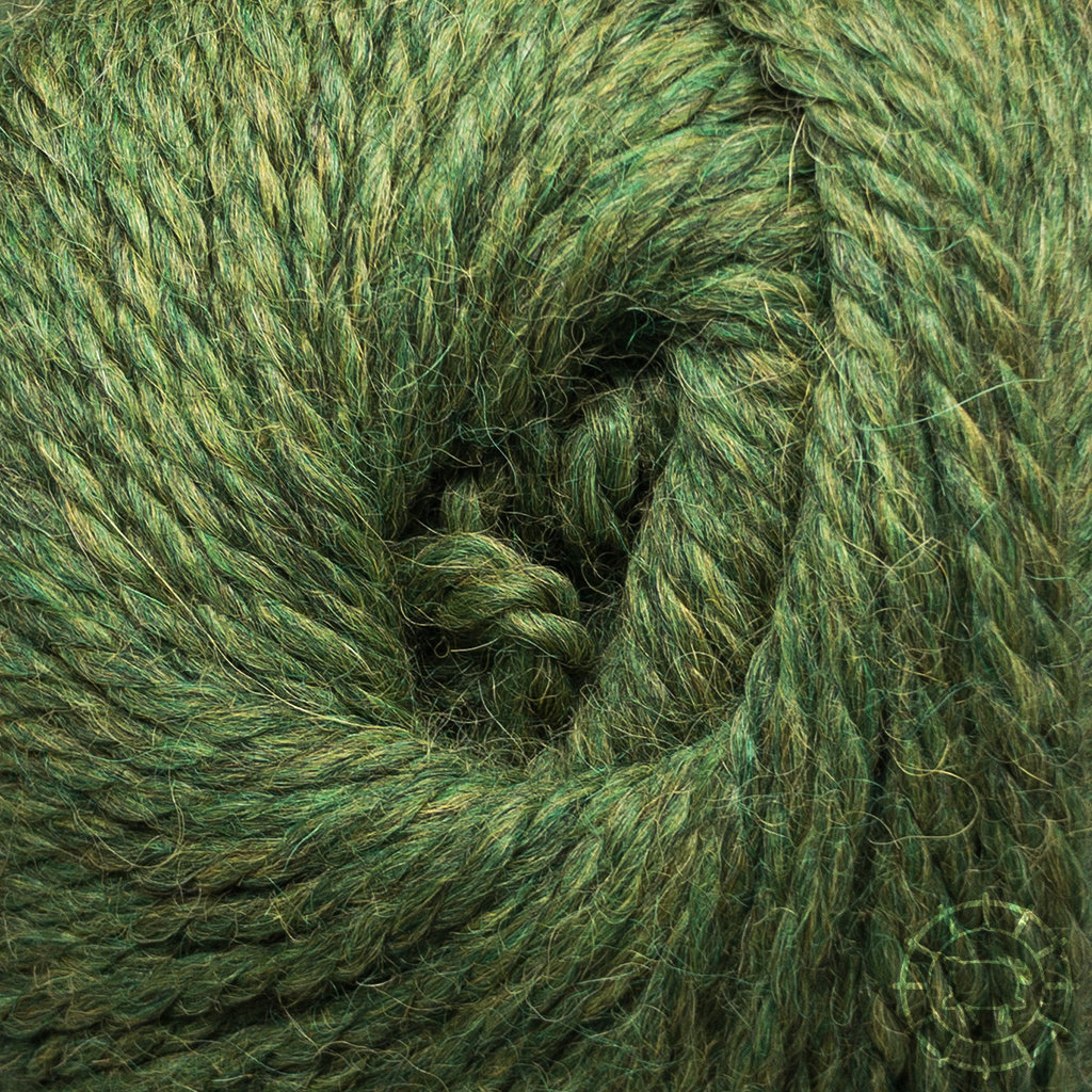«Woolpack Yarn Collection» Baby Alpaca Bulky – Vert chiné