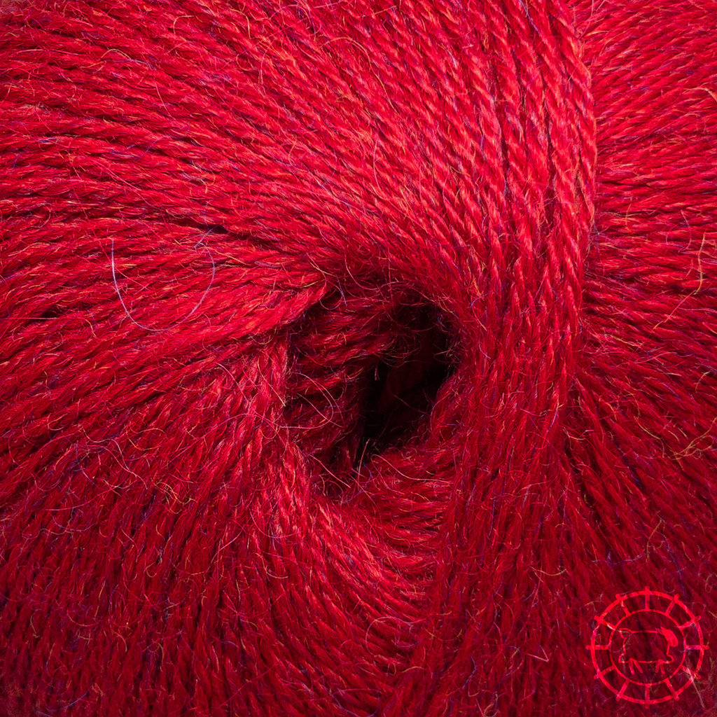 «Woolpack Yarn Collection» Baby Alpaca Fingering, chinée – Rouge tomate