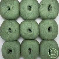 «Woolpack Yarn Collection» Baby Alpaka Fingering, meliert – Lindenblüte