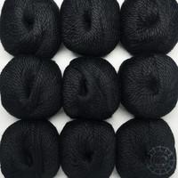 «Woolpack Yarn Collection» Baby Alpaka Bulky – Schwarz