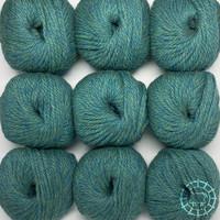 «Woolpack Yarn Collection» Baby Alpaka Bulky – Blaugrün
